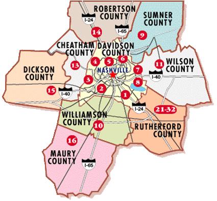 map nashville tn surrounding areas Neighborhoods In Nashville Tn Real Estate Mls Listings For Sale map nashville tn surrounding areas